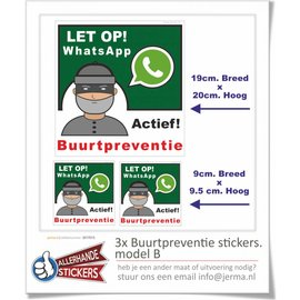 Allerhandestickers.nl WhatsApp Buurtpreventie sticker set  B