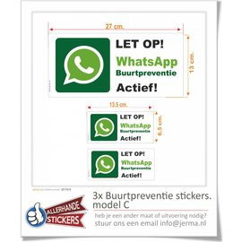 Allerhandestickers.nl Whatsapp Buurtpreventie sticker set  C