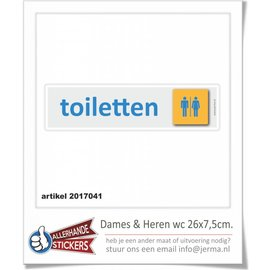 Allerhandestickers.nl Toilet sticker man vrouw pictogram