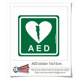 Allerhandestickers.nl AED sticker
