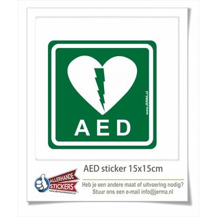 Allerhandestickers.nl AED pictogram sticker