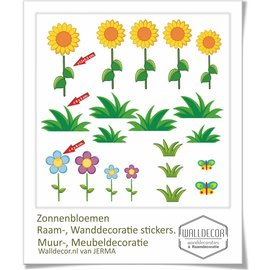 Walldecor Zonnebloemen decoratie stickers
