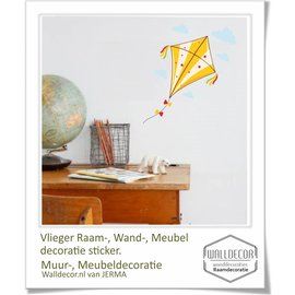 Walldecor Vlieger decoratiesticker