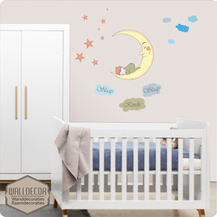Walldecor Slaap kindje slaap. Babykamer muurstickers