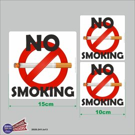Allerhandestickers.nl No Smoking set van 3 decal.