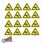 Allerhandestickers.nl Val gevaar, sticker geel zwart 5 cm.