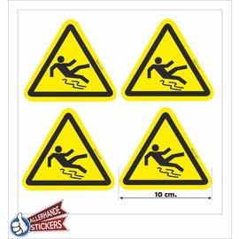 Allerhandestickers.nl Val gevaar, sticker