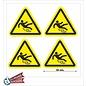 Allerhandestickers.nl Val gevaar, sticker geel zwart 10 cm.