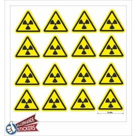 Allerhandestickers.nl Radioactieve stoffen, sticker