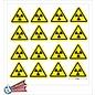 Allerhandestickers.nl Radioactieve stoffen, sticker geel zwart 5 cm.