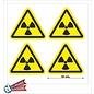 Allerhandestickers.nl Radioactieve stoffen, sticker geel zwart 10 cm.