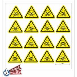 Allerhandestickers.nl Giftige stoffen, doodskop sticker