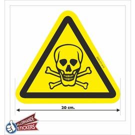 Allerhandestickers.nl Giftige stoffen, doodskop sticker.