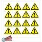 Allerhandestickers.nl Gevaar Pas op uitroep teken 5cm