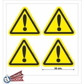 Allerhandestickers.nl Gevaar sticker, uitroep teken
