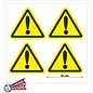 Allerhandestickers.nl Gevaar sticker, uitroep teken geel zwart 10 cm.