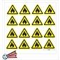 Allerhandestickers.nl Ontvlambare stoffen, Brandgevaar sticker geel zwart 5 cm.