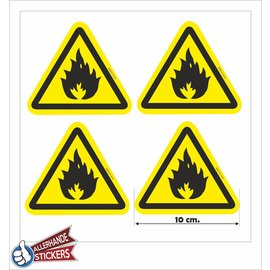 Allerhandestickers.nl Ontvlambare stoffen, Brandgevaar sticker