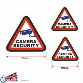 Allerhandestickers.nl Camera Security sticker set 3 stuks