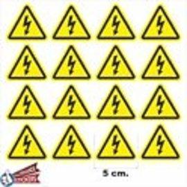 Allerhandestickers.nl Driehoek stickers geel, zwart. Gevaar
