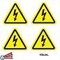 Allerhandestickers.nl Driehoek stickers geel, zwart. Gevaar 10cm. set 4 stuks