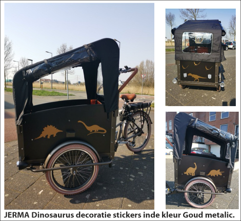 bakfiets stickers dinosaurus