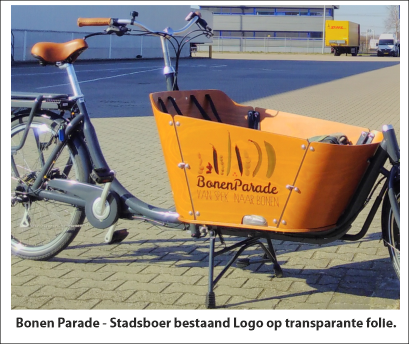 bakfiets reclame stickers