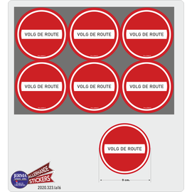 Allerhandestickers.nl Looproute Eenrichting sticker set