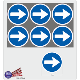 Allerhandestickers.nl Looproute sticker set
