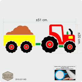 Walldecor Tractor muursticker kinderkamer