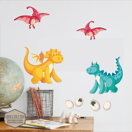 Walldecor Dinosaurus muurstickers set B