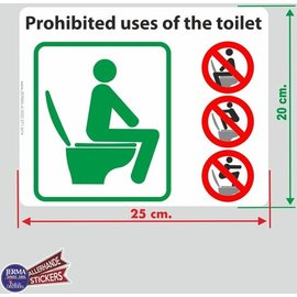 Allerhandestickers.nl Prohibited uses of the toilet transfer