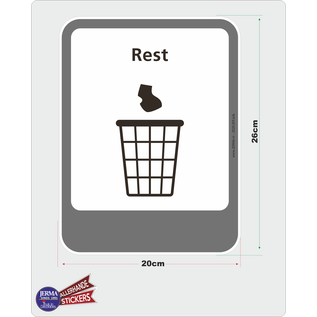 Allerhandestickers.nl Rest afval recycling pictogram sticker
