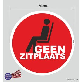 Allerhandestickers.nl Geen zitplaats pictogram sticker.
