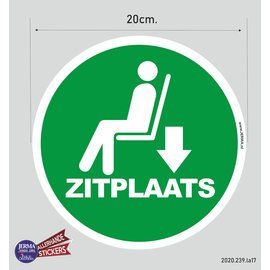 Allerhandestickers.nl Zitplaats pictogram sticker