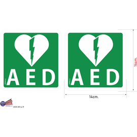 Allerhandestickers.nl AED sticker.
