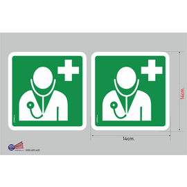Allerhandestickers.nl Docter pictogram hier