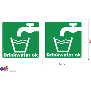 Allerhandestickers.nl Drinkwater oké sticker set