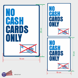 Allerhandestickers.nl No cash, cards only. Kassa sticker set.