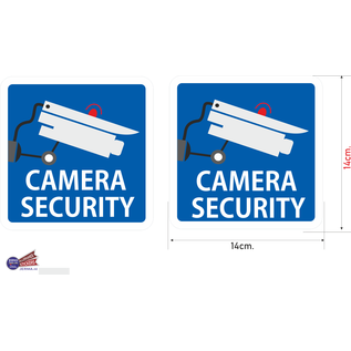 Allerhandestickers.nl Camera Security stickers set.