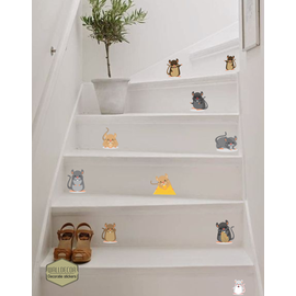 Walldecor Muis op de trap decoratie stickers
