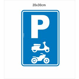 Allerhandestickers.nl parking vespa en moto