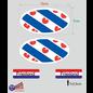 Allerhandestickers.nl Provincie Friesland vlaggen auto sticker set.
