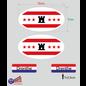 Allerhandestickers.nl Provincie Drenthe vlaggen auto sticker set.