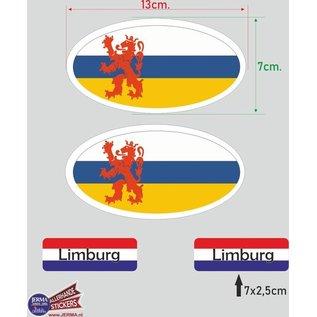 Allerhandestickers.nl Provincie Limburg vlaggen auto sticker set.