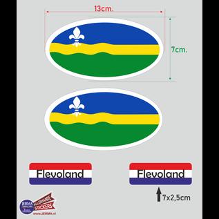 Allerhandestickers.nl Provincie Flevoland vlaggen auto sticker set.