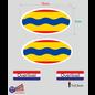 Allerhandestickers.nl Provincie Overijssel vlaggen auto sticker set.