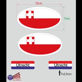 Allerhandestickers.nl Provincie Utrecht vlaggen auto sticker set.
