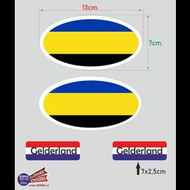 Allerhandestickers.nl Provincie Gelderland vlaggen auto sticker set