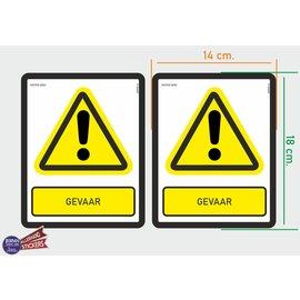 Allerhandestickers.nl ISO7010 W001 Gevaar 2 Waarschuwing stickers